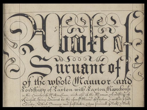 A booke of survaye of the whole mannor and lordshipp of Laxton