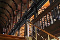 The Long Room, upstairs from the Book of Kells