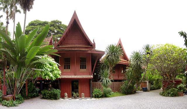 Teak houses of Jim Thompson in Bangkok