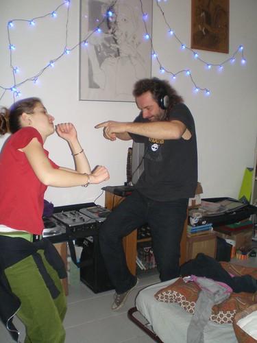 Kika danzerina a casa di DJ Nolys Nakkera