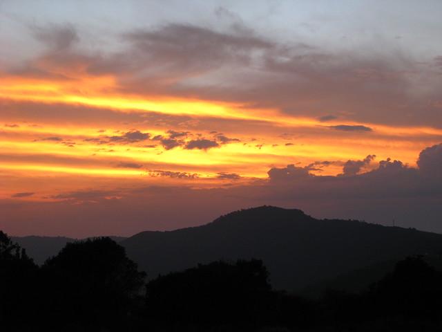 Sun rise above Ngorongoro