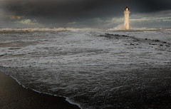 Lighthouse standing tall against the waves at New Brighton (jimmedia) Tags: new lighthouse against standing brighton waves tall