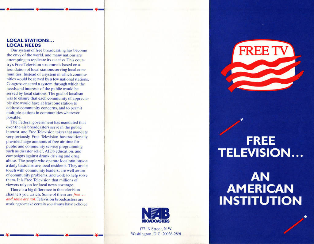Free TV Pamphlet from NAB