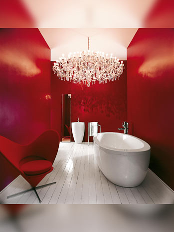 Modern Red Bathroom Interior design