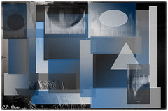 Study on blue (Giulio Speranza) Tags: blue white black art composition studio grey grigio arte blu shapes study gradient bianco nero forme composizione astrattismo abstractionism graiente