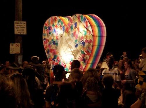 Heart lantern Australia Day 2008 Woy Woy