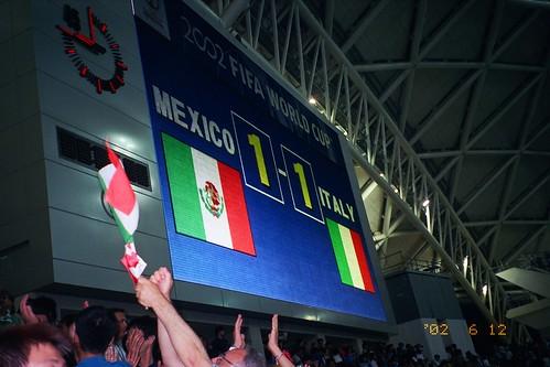 Marcador Mexico Italia