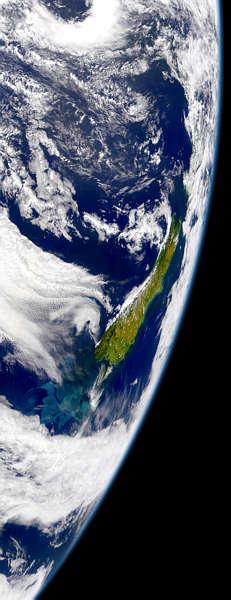 NZ vue du ciel NASA