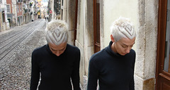 haircut short silver female (wip-hairport) Tags: haircut lines hair de pattern lisbon corte curves bleach bodylanguage hairdresser hairstyle bleached cabelo dyedhair elevadordabica hairport