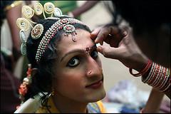 make-up for the hijra beauty contest 1 - Chennai (Maciej Dakowicz) Tags: gay india beauty sex aids hiv madras contest makeup transgender chennai gender transsexual ladyboy tikka bindi eunuch ches hijra kothi hijrah aravani chhakka
