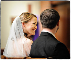 A Sacred Institution (Ryan Brenizer) Tags: wedding newyork love church smile groom bride nikon cross religion noflash d3 whiteplains westchester 70200mmf28gvr religiosity weddingphotojournalism