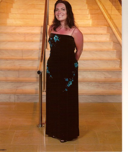 formal night 1 - me on staircase