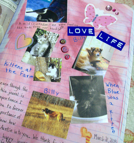 art journal pages for IG - more pets