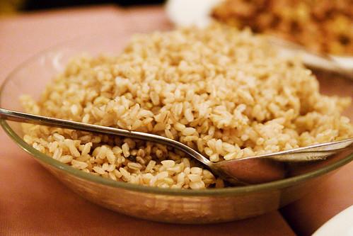 brown rice, vat of
