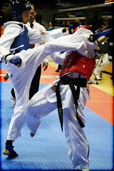 axe kick (shboom) Tags: kick bodylanguage headshot taekwondo tournament fighting sparring axekick ucopen