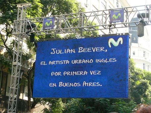 Julian Beever en Argentina