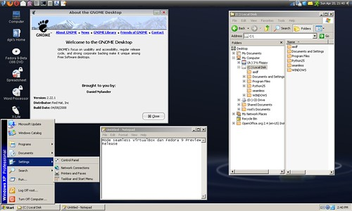 Seamless Mode VirtualBox
