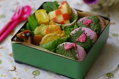 Sakura bento2 (luckysundae) Tags: kawaii bento japanesefood obento charaben