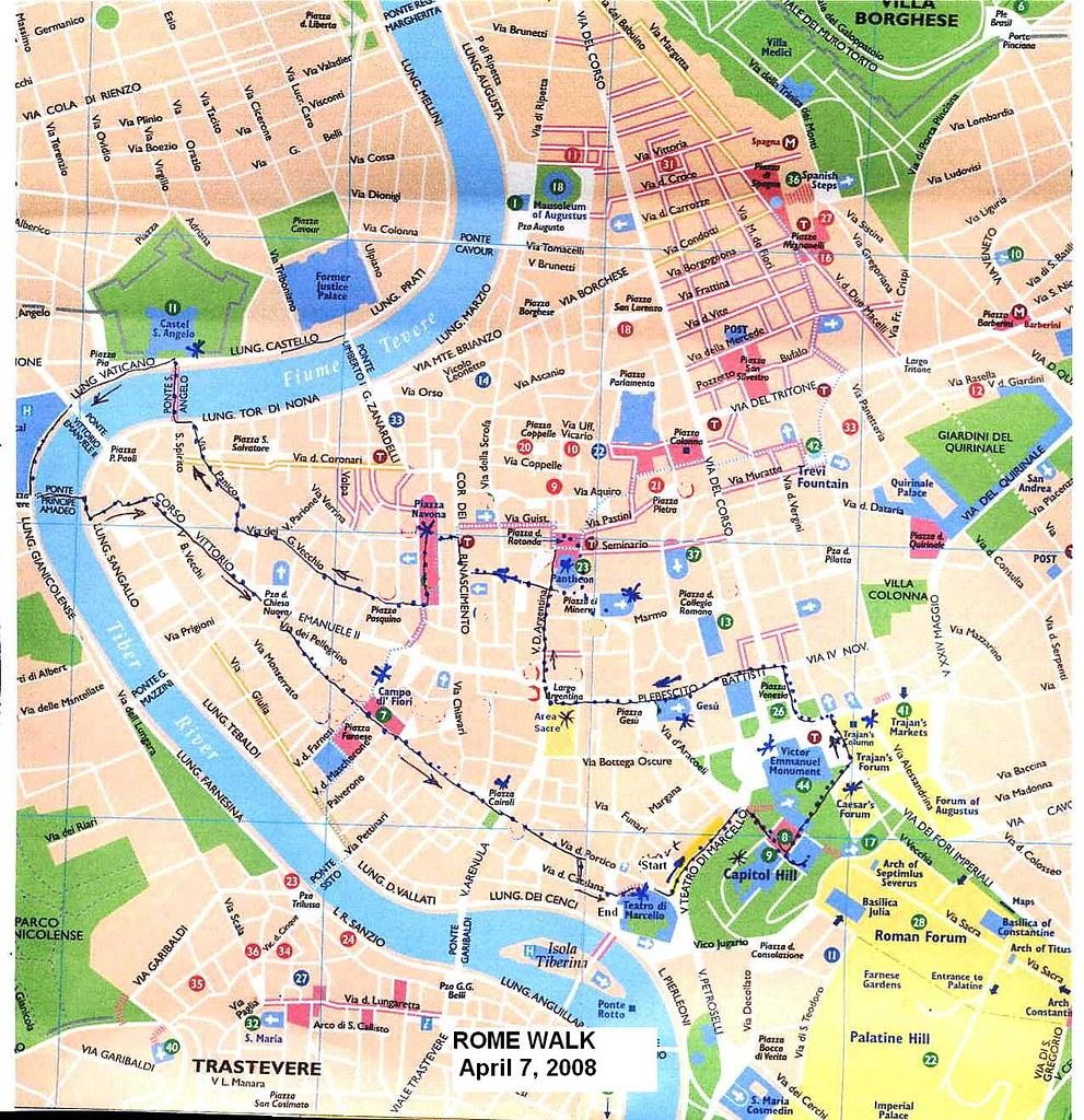 Rome Walks, April 7-8, 2008