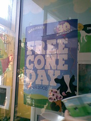 Free Cone Day 4: Sign