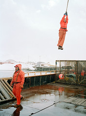 Crane_Swing (coreyfishes) Tags: ocean sea snow color ice dutch weather alaska danger harbor photo fishing fisherman king arnold picture wave crab corey catch kingcrab discovery harsh beringsea crabbing rollo bering snowcrab opilio deadliest deadliestcatch coreyfishes