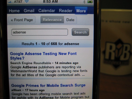 Google News on iPhone