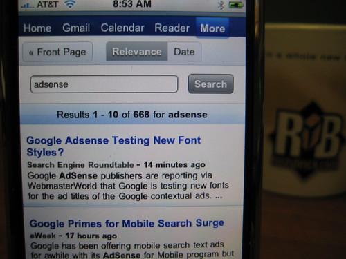 Google News on iPhone