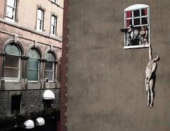 Banksy (Davide_Rizzo) Tags: smile photoshop comics bristol graphic d novel davide murales rizzo divertente corna moglie bansky risata fumetto marito desaturato simpatica tradimento infendelt