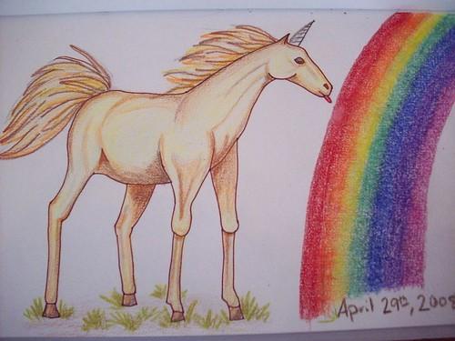 Unicorn Licking the Rainbow