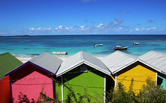 Beach Huts (robin denton) Tags: antigua westindies caribbean leewardisland sea beachhuts beach seascape buildings bay longbay