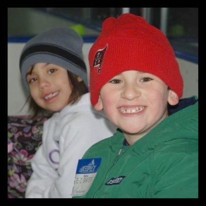 Ice skating buddies
