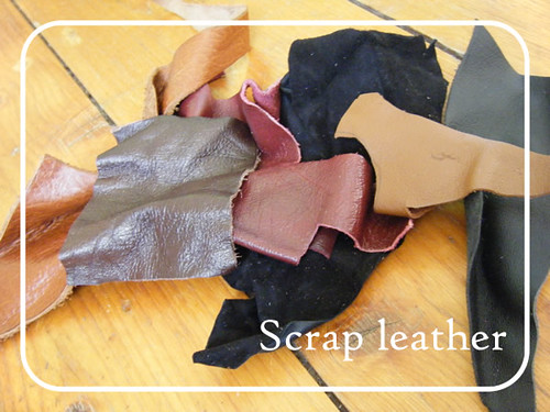 Scrappy leather headband 1