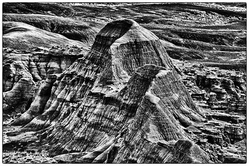 Painted Desert In B/W