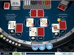21 Duel Blackjack 3 Hand game