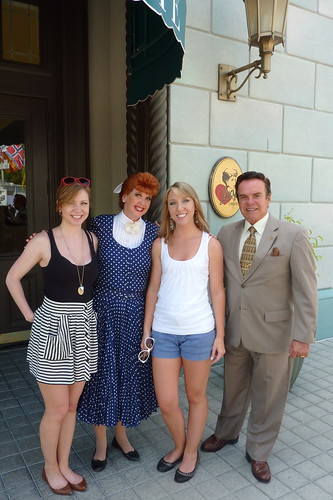Hanging out with Lucy and Ricky at Universal Studios