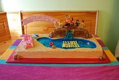 High School Musical 2 Cake-1 (lanell65) Tags: birthday cake waterfall mustang bridgette beachchairs fondant gumpaste highschoolmuscial2cake