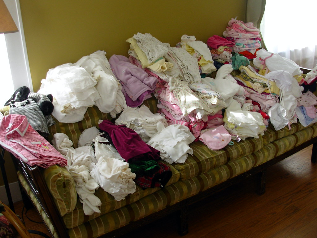enough clothes for a gaggle of babies