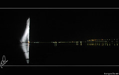 JED's Fountain (Saleem Homsi) Tags: red sea water fountain night redsea jed saudi arabia jeddah ksa