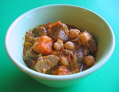 Lamb stew with squash, lemon and mint