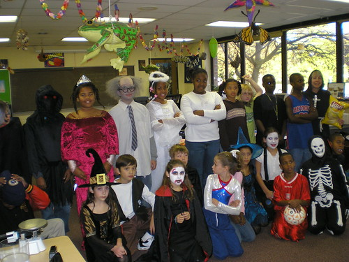 Will's 5th grade class, in costume