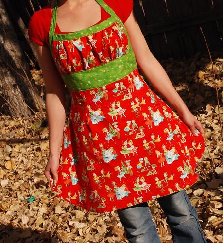 halter holiday apron