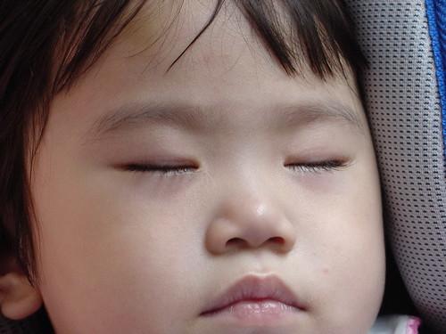睡著時來拍睫毛 (好像不是拍的很好)