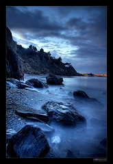 Pirate's Creek (Midnight - digital) Tags: longexposure blue sea mist beach water mystery night creek landscape interestingness eerie spooky adventure pirate moonlight reef themoulinrouge rocs blueribbonwinner abigfave anawesomeshot aplusphoto unature megashot theunforgettablepictures fiveflickrfavs excapture midnightdigital rickspixtop50 alemdagqualityonlyclub photoartbloggroup christophedessaigne