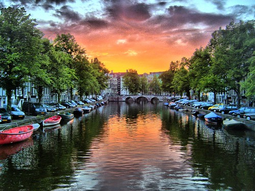 Sunset by the canal revisited
