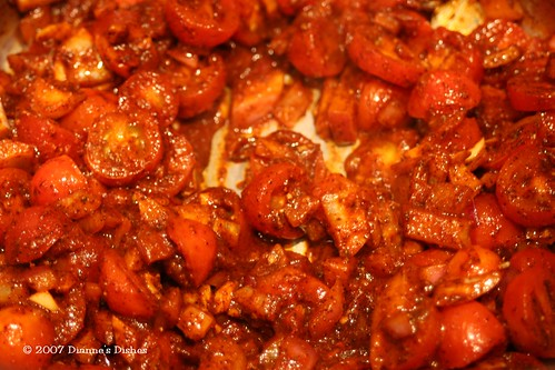 Three Bean Chili: Veggies and Spices