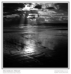 Mumbles Head (Sean Bolton (no longer active)) Tags: ocean sea bw beach monochrome swansea wales mono sand cymru wfc themumbles abertawe seanbolton welshflickrcymru superbmasterpiece ffotocymrucouk