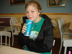 Tori at Braums (charmednblum) Tags: daughter drinking eatingout braums