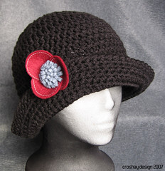 KnuttinButYarn: Crochet Ridged Brim Cap - Newsboy Hat