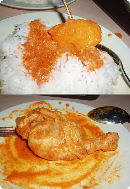 Eating Curry Chicken