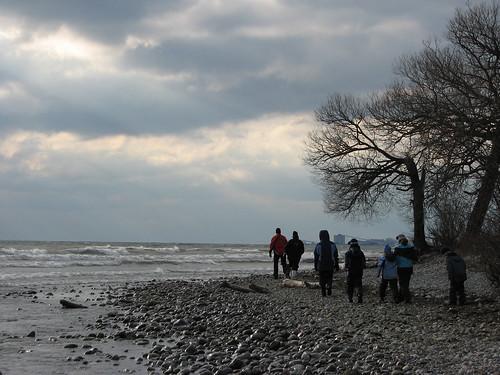 Walking Lake Ontario's shoreline